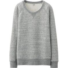 UNIQLO Sweat Long Sleeve Pullover ($11) ❤ liked on Polyvore featuring tops, hoodies, sweatshirts, sweaters, shirts, pullover sweatshirts, long sleeve cotton shirt, uniqlo shirt, pullover shirt and slim shirt