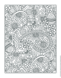 Free coloring page from Jenean Morrison's Flower Designs Coloring Book