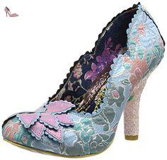Irregular Choice Silver Linings, Escarpins femme - rose - Pink (Pink/Blue), 38 2/3 - Chaussures irregular choice (*Partner-Link)