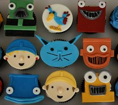 Bob the builder cupcakes