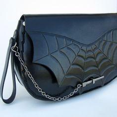 Spiderweb....Handmade Tooled Leather Clutch Purse