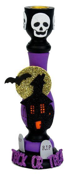 Nicole™ Crafts Haunted House Candlestick #kids #craft #halloween