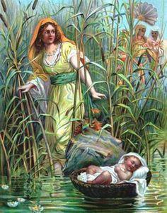 Moisés bebê cesto rio Nilo Exodo-2-1-10 Eliseu Antonio Gomes Belverede