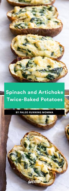 6. Spinach and Artichoke Twice-Baked Potatoes #greatist https://greatist.com/eat/whole30-vegetarian-dinner-recipes