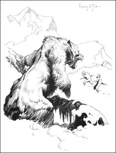 wonderful-strange:  Frank Frazetta, Illustration from Canaveral Press's Pellucidar.