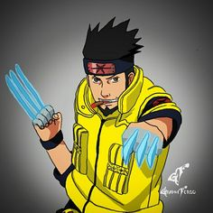 Wolvasuma ?  Asumerine ?  Do you like this mashup between Naruto and Marvel? I like it (^_^)   Don't forget to help me for my project (link in bio) I really need help!   #asuma #wolverine #xmen #naruto #marvel #stanlee #hughjackman @thehughjackman
