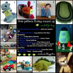 Crochet Patterns for Boys! Free Pattern Friday Round Up Curated by Oombawka Design Oombawka Design Crochet