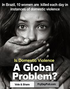 Find In-depth Review And Infographic On Domestic Violence. Is it a Global Problem? What's your Take? (In this Pin: Stats on Domestic Violence from Brazil)