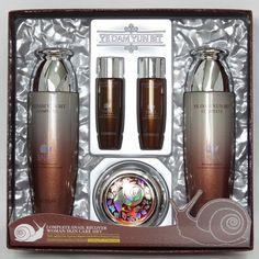 YE DAM YUN BIT COSMETICS SET. Complete Snail Recover Skin Care 3kits. Gift Set