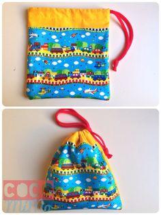Bolsa de merienda con forro impermeable. Disponible en la tienda etsy  https://www.facebook.com/costurasconmimo