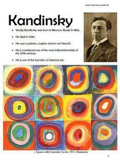 Kandi Apples: In the style of Kandinsky – Art Lesson Plan - Art Lesson Plans Art Lessons For Kids, Art Lessons Elementary, Art For Kids, Back To School Art, Art School, School Style, Middle School, High School, Kandinsky Art