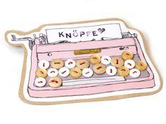 Knöpfe Mix Schreibmaschine