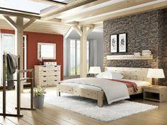 Natur pur Nicht nur wunderschön sondern das gesündeste Schlafzimmer der Welt.  Htttp://WWW.LaModula.at/zirbenbett Zirbenschlafzimmer von LaModula mit Zirbenholzbett, Zirbennachttisch, Zirbenkommode, Kleiderständer