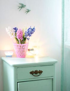 love the mint and pink