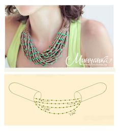 Crocheted necklace with beads - tutorial & free pattern (russ)