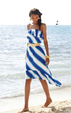 Lilly Pulitzer '13 Caldwell Dress in Resort White Sail Stripe