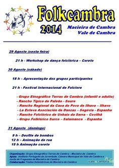 Folkcambra 2014 > 29, 30 e 31 Ago 2014 @ Macieira de Cambra, Vale de Cambra   #ValeDeCambra #MacieiraDeCambra