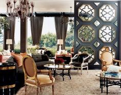 Traditional Living Room by Kelly Wearstler and Brian Tichenor in Beverly Hills, California