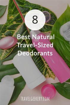 What's the best travel deodorant? Here I review 8 great natural travel sized deodorants that you can take anywhere with you. Smaller in size, these best travel deodorants will make you feel fresh and sweat-free even on long travel days. They fit perfectly in your handbag or a backpack. Deodorants for travel that are often organic, bio and made from natural ingredients.  #travel #deodorant #naturaldeodorant #traveldeodorant #travelsize #travelgift #travelgeekery #naturalcosmetics #cosmetics Best Shoes For Travel, Best Travel Gifts, Travel Items, Travel Size Products, Travel Articles, Travel Advice, Natural Deodorant, Luxury Travel, Travel Style