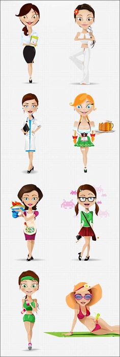 75+ Best Toon #Free #Mascot Character Vector Sets