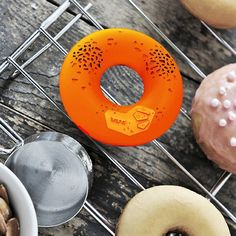 Donut Wireless Bluetooth Speaker / Don't mistake your speaker with a real lip-smacking donut as your party hits on with music supplied from this Donut Wireless Bluetooth Speaker.  http://thegadgetflow.com/portfolio/donut-wireless-bluetooth-speaker/