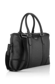 feb62036a5a41 BOSS Business Tasche ´Manful` aus Leder Modell Manful 50261670 Schwarz 429  € Ledertasche