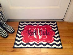 Roll+Tides+Alabama+Personalized+Door+Mat+by+LittleBitSassy+on+Etsy,+$30.00