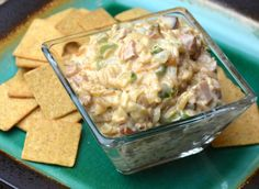 OMG! Jambalaya Dip - #OMGdip mixed with smoked sausage, green peppers and Zatarain's Jambalaya Mix. A scrumptious and easy to make dip.