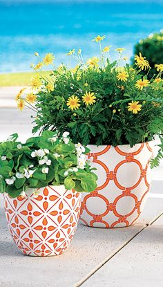 Bold colors, stylish patterns, and lightweight materials—our Allison planters will be the pride of your patio, courtyard or veranda.