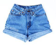 Vintage Levis Shorts High Waisted Denim Shorts Jeans Back to School / xs s m l xl xxl - Jeans shorts - Cute Ripped Jeans, High Jeans, High Waist Jeans, Levis Jeans, Vintage Levi Shorts, Vintage Levis, Short Outfits, Cute Outfits, Short Jeans Feminina