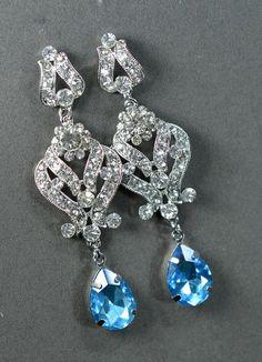 teal bluelight turquoisesomething blue by thefabbridaljewelry