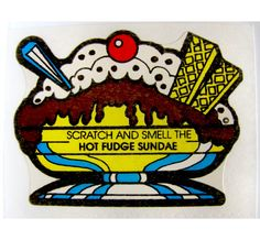 Vintage Mello Smello Scratch and Sniff Hot by VintageStickerLove, $5.49