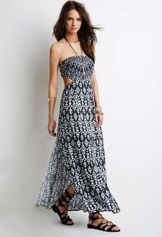 Strapless Tribal Print Maxi Dress $28 #Tribal