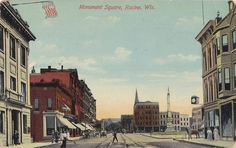 Monument Square; postmarked 1911