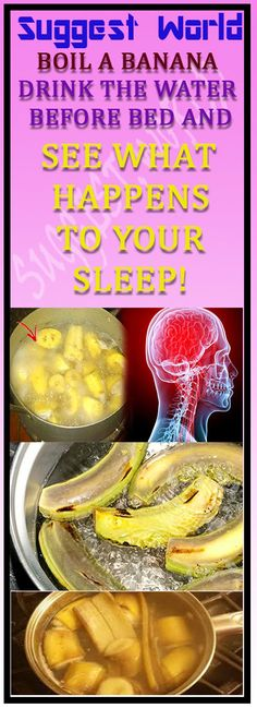 BOIL A BANANA, DRINK THE WATER BEFORE BED AND SEE WHAT HAPPENS TO YOUR SLEEP! #weightloss #sleep #healthyfood #diet #healthdrink