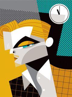 """Leonardo Di Caprio"". Le Cubisme selon Pablo Lobato. #Art #Illustration #cubisme"