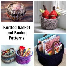 Clean up your yarn stash and your home at the same time! Knit baskets of all sizes to organize everything that tends to make a mess, from jewelry and office supplies to coffee table clutter and laundry.