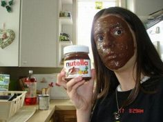 Nut Facial In This Picture: Photo of girl with Nutlella on face
