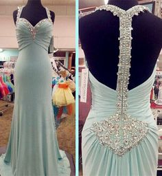 Backless Prom Dresses,Prom Dress,Backless Prom Gown,Open Back Prom Dresses,Open Backs Evening Gowns,2016 Evening Gown,Chiffon Beaded Bodice Party DressFor Teens Girls