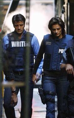 "Stana Katic as Kate Beckett and Nathan Fillion as Richard Castle - Castle 2x09 - ""Love Me Dead"""