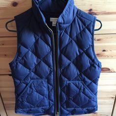 Vest J.crew quilted polyester vest. Never worn! J. Crew Jackets & Coats Vests