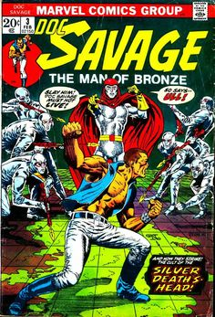 One of the two Jim Steranko covers for Marvel's Doc Savage comic book.