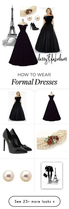 """""""Classic black"""" by shays22 on Polyvore featuring Alyce Paris, Grace and Yves Saint Laurent"""