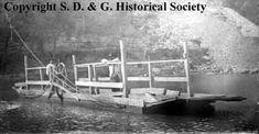 The Aultsville ferry, ca. 1900.  Aultsville, Ontario.