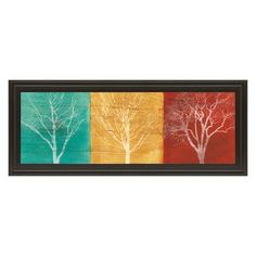 Classy Art Fallen Leaves Framed Wall Art - 42W x 18H in. - 1487