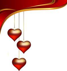 Decorative Hearts Pendants Element PNG Clipart