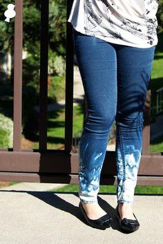 "#DIY Bleaching ""Pattern"" onto Jeans"