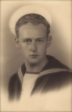A Lovely Sailor…World War II Handsome Navy Military Marine Belgian Army Soldier in Uniform Original Rare 1940s Real Photo Postcard RPPC