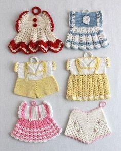 Vintage Fashion Potholder Crochet Patterns