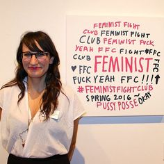 """""""I'm in a feminist fight club- it's a group of badass ladies in New York and for a few years we have been meeting to talk about our careers and support each other. It's all about paying it forward. Too often I think female competition comes from the fact that we are competing for very few slots for jobs, typically, or men, or whatever it may be. It is the idea that there are not enough spaces for women at the top, so of course you'll elbow the woman next to you because you think that you…"""